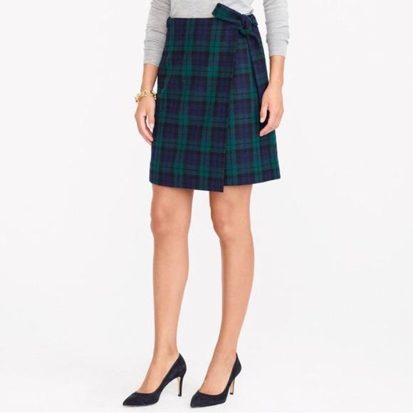 de52bfba7 J. Crew Skirts | J Crew Tartan Plaid Green Blue Mini Skirt | Poshmark
